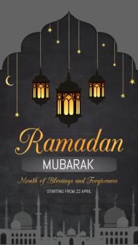 Ramadan templates História do Instagram