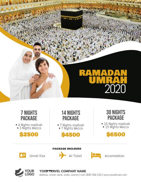Ramadan Umrah Package Flyer Poster