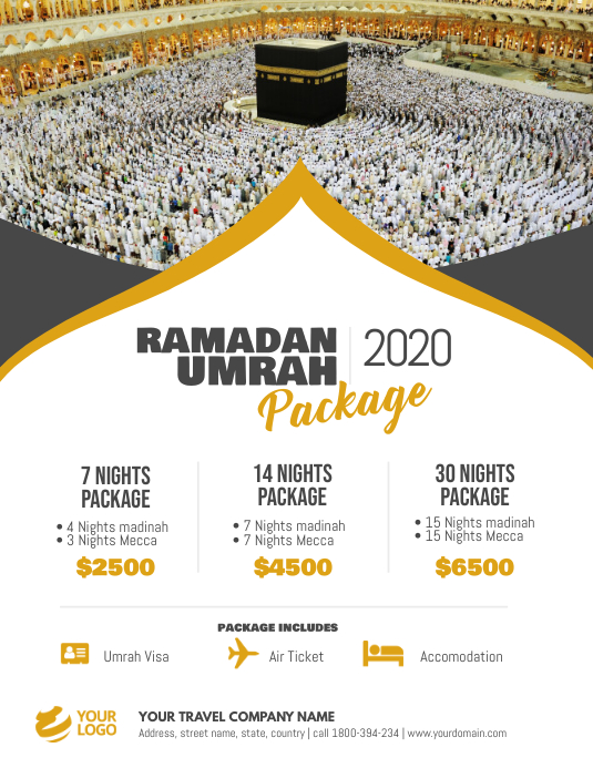 Ramadan Umrah Package Flyer Poster
