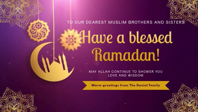 Ramadan Wish and Blessing Video Banner
