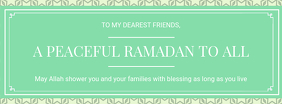 Ramadan Wish Facebook Cover Template