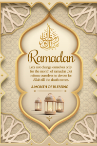 Ramadan wishes Poster template