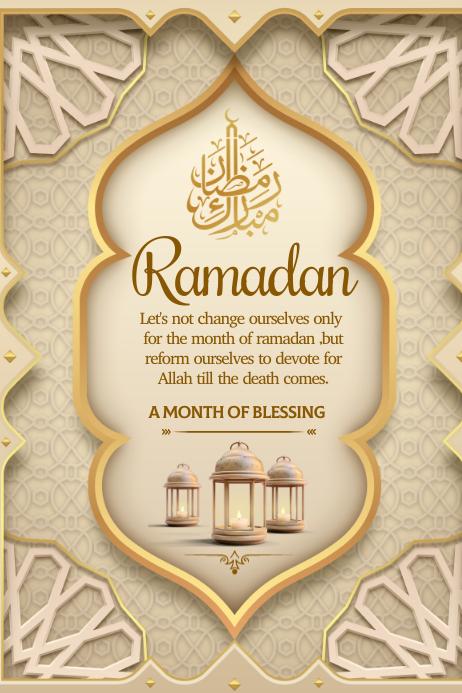 Ramadan wishes Poster template