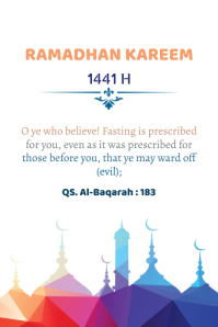 Ramadhan 2020 Poster template