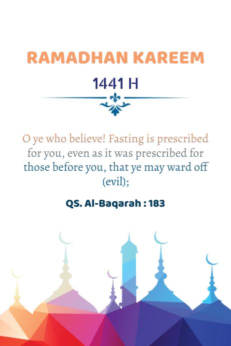 Ramadhan 2020 Plakkaat template