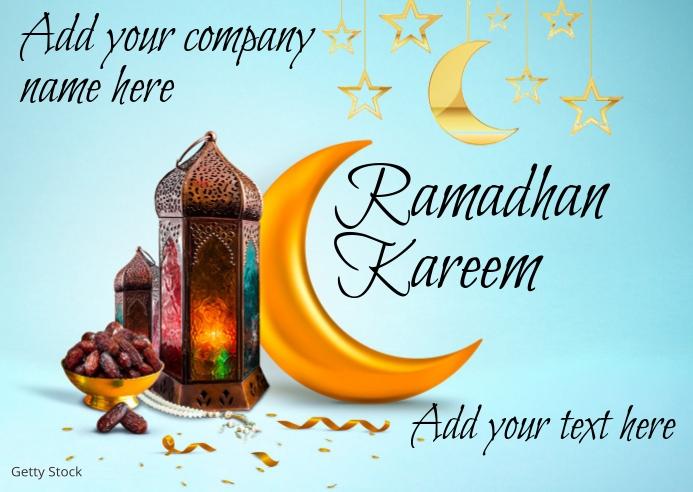 Ramadhan Kareem Pocztówka template