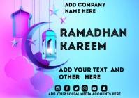 Ramadhan Kareem Postkarte template