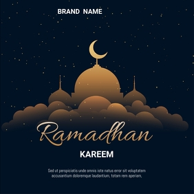 Ramadhan Kareem Message Instagram template