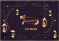 Ramadhan Kareem Marhaban ya Ramadhan Ramadan Kartu Pos template