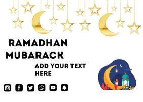 Ramadhan Poster Cartolina template