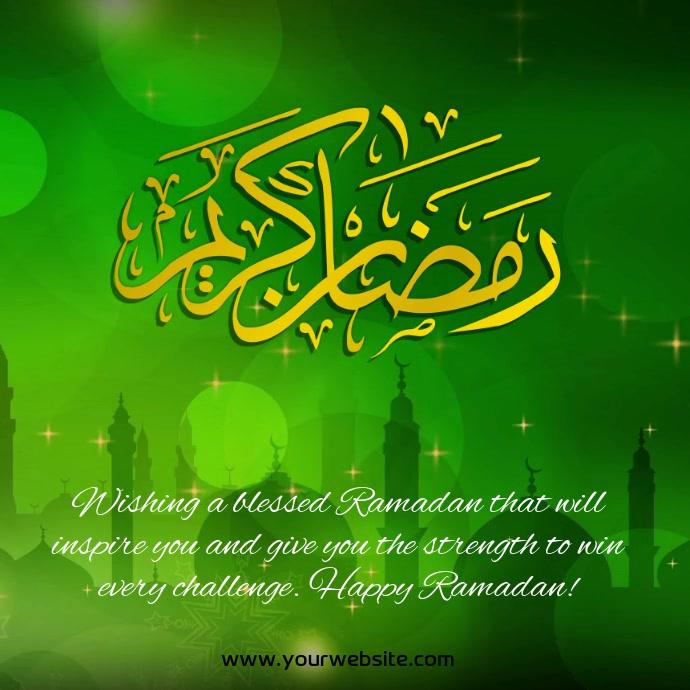 Ramadan mubarak instagram video template