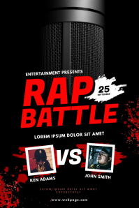Rap Battle Event Flyer Template Poster
