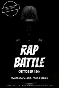 Rap battle flyer template