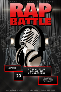 Rap battle flyer template