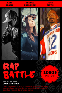 Rap battle flyer template with Photos