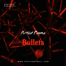 Rap Bullet CD Cover Art Template
