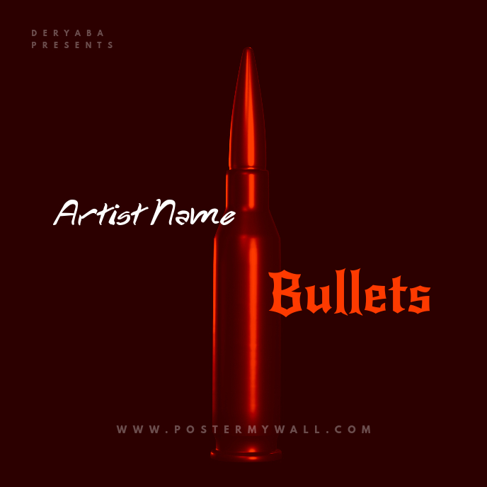 Rap Bullet CD Cover Art Template