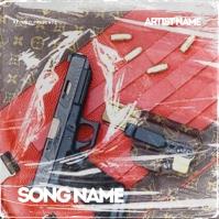 RAP CD Album / Mixtape Cover Design Template Albumhoes