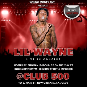 RAP CONCERT CLUB FLYER