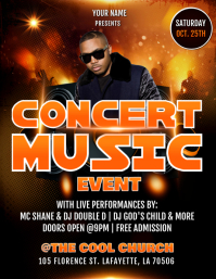 RAP CONCERT FLYER TEMPLATE