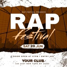 Rap Festival Flyer Template Publicación de Instagram