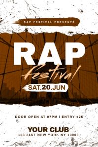 Rap Festival Poster Template โปสเตอร์