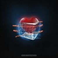 Rap Hip-Hop Cover - Frozen Heart Pochette d'album template