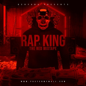 Rap King Throne The Red Mixtape CD Cover