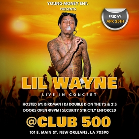 RAP LIVE CONCERT CLUB FLYER