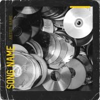 Rap mixtape cover art design template Pochette d'album