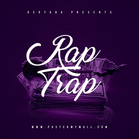 Rap Trap Mixtape Cover Art Template