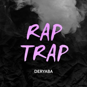 Rap Trap Smoke Video Mixtape Cover Template Sampul Album