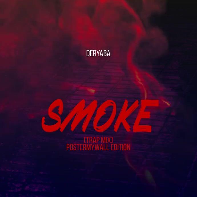 Rap Trap Smoke Video Mixtape Cover Template Persegi (1:1)