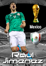 Raul Jimenez Poster A2 template