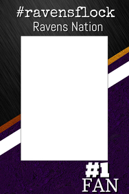 Ravens Football Photo Prop Frame