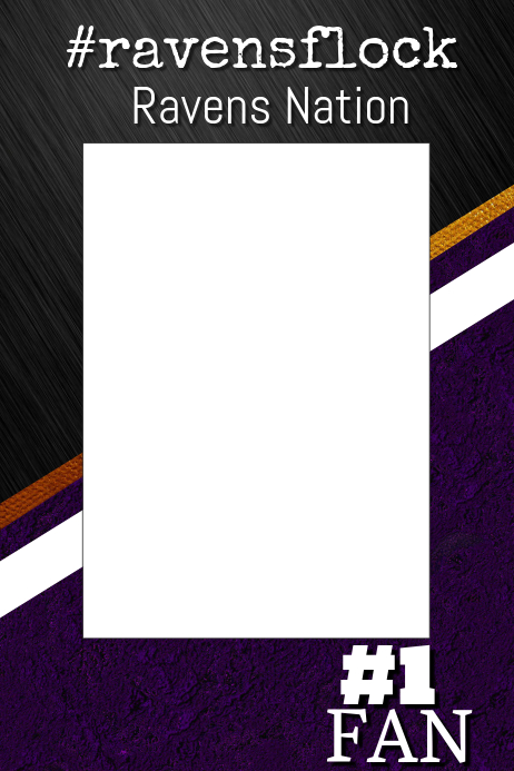 Ravens Football Photo Prop Frame