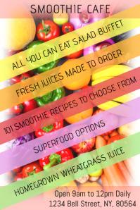 Raw Vegan Food Flyer Restaurant Poster Template