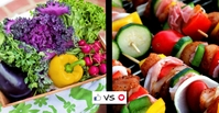 Raw vs Cooked Veggies Facebook Event Cover template
