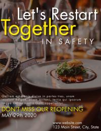 re opening restaurant flyer advertisement template