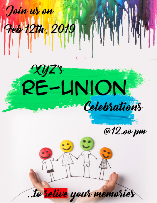 Re-union flyer/template Pamflet (Letter AS)
