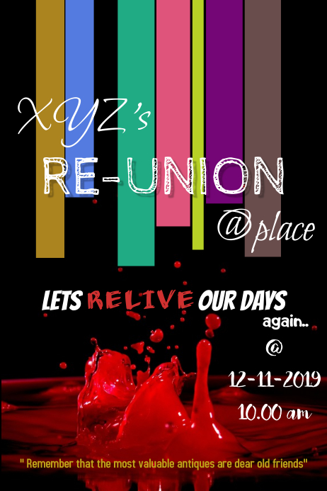 Re-union/ get together template 海报
