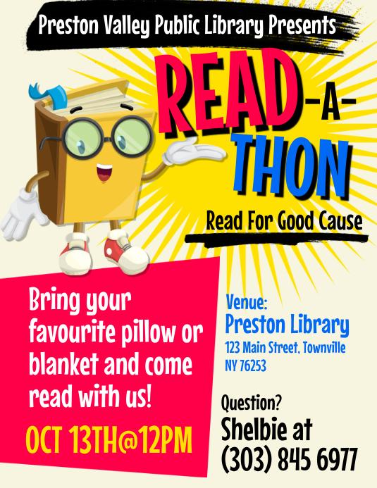 Read-A-Thon Flyer