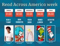 Read Across America Spirit Week Flyer template
