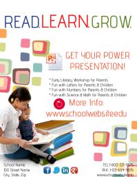 Read Learn Grow Template