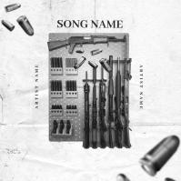 Ready GUNS Mixtape Album Cover Art Template