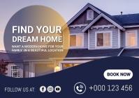 Real estate,corporate Postcard template