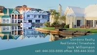 Real Estate | Timeshare | Home Builder Визитная карточка template