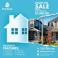 Real Estate Ad Message Instagram template