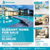 Real Estate Ad Instagram Post template