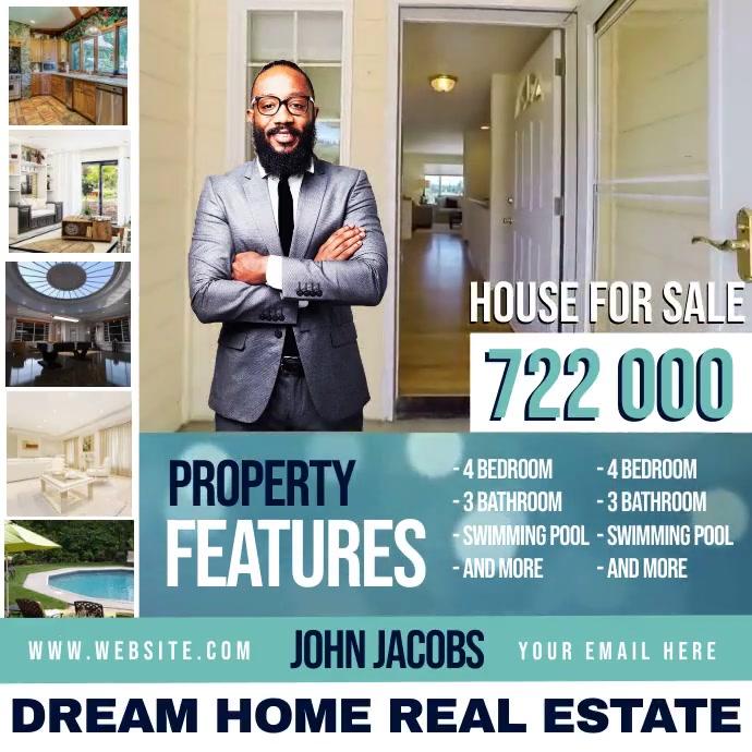 real estate ad social media instagram template